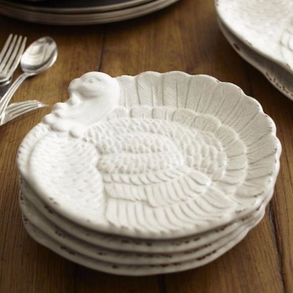 Pottery Barn Fall Thanksgiving Heritage Turkey Oval Platter